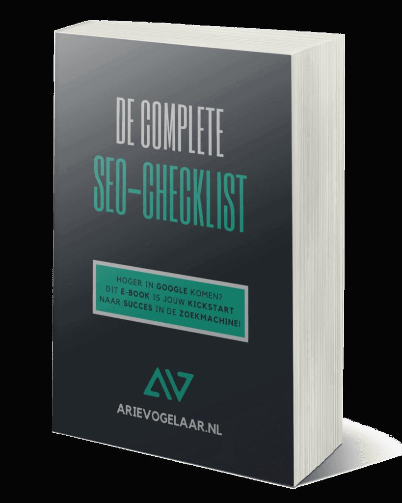 """ebook arie vogelaar """"de complete seo checklist"""""""