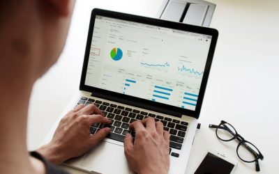 Laptopscherm met Google Analytics